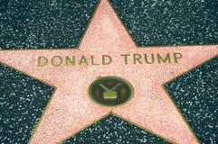 Donald Trump. 's star at the Hollywood Walk of Fame Stock Photos