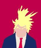 Donald Trump Abstract avec les sourcils touffus illustration libre de droits