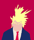 Donald Trump Abstract with Bushy Eyebrows. April 18, 2017. Abstract of Donald Trump with crazy hairdo and bushy eyebrows Stock Photos