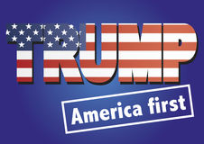 Donald Trump America first Royalty Free Stock Photo