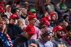 Supporters of Donald Trump at Rally