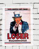 Donald Trump As Uncle Sam. A poster of Donald Trump dressed as Uncle Sam in the same position as the original poster which calls to recruit soldiers to the army royalty free stock photo