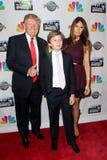 Donald Trump, Barron Trump, Melania Trump royalty-vrije stock afbeelding
