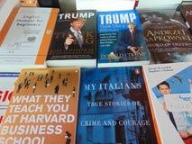 Donald Trump Books Imágenes de archivo libres de regalías
