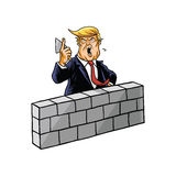 Donald Trump Build una pared libre illustration
