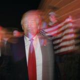 Donald Trump-campagnes bij Nevada Caucus-opiniepeilingspost, Palos Verde Highschool, NV Stock Foto