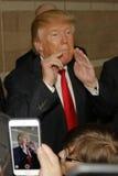 Donald Trump-campagnes bij Nevada Caucus-opiniepeilingspost, Palos Verde Highschool, NV Royalty-vrije Stock Foto