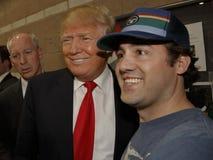 Donald Trump-campagnes bij Nevada Caucus-opiniepeilingspost, Palos Verde Highschool, NV Stock Foto's