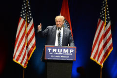 Donald Trump Campaigns à St Louis Photo stock