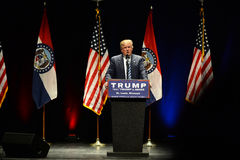 Donald Trump Campaigns i St Louis Royaltyfria Bilder