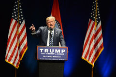 Donald Trump Campaigns in St. Louis stock images