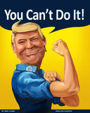 Donald Trump - We Can Do it! themed Cartoon Portrait Royalty Free Stock Image