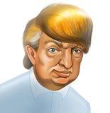 Donald Trump Caricature ilustração stock