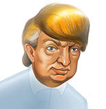 Donald Trump Caricature Stock Images