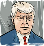 Donald Trump caricature portrait Royalty Free Stock Photo