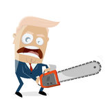 Donald trump with chainsaw Stock Image