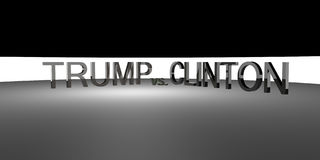 Donald Trump contra Hillary Clinton Eleição 2016 dos EUA Foto de Stock