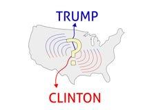 Donald Trump contra Hillary Clinton Eleição 20 dos EUA Fotografia de Stock