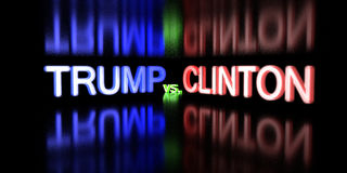 Donald Trump contre Hillary Clinton Élection 2016 des Etats-Unis Images stock