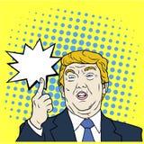 Donald Trump, el 45.o Presidente de los Estados Unidos, arte pop, ejemplo plano del vector del diseño