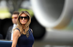 Donald Trump en Melania Trump royalty-vrije stock foto