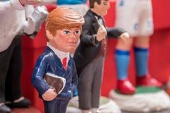 Donald Trump, estatueta famosa nas nucas fotografia de stock royalty free