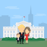Donald Trump with family. royalty free illustration