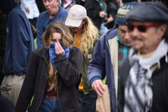 Donald Trump Free Speech Brawl i Berkeley California Fotografering för Bildbyråer