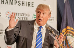 Donald Trump gester Royaltyfri Bild