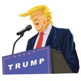 Donald Trump Giving een Toespraak stock illustratie