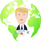 Donald Trump on a globe Royalty Free Stock Photography