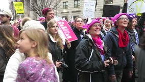 Donald Trump Has Got to Go. Video of women protesters shouting donald trump has got to go at the women`s march on 1/21/17 in washington dc. Donald trump was
