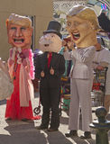 Donald Trump, Hillary Clinton and Mr. Monopoly Costumes Stock Photography