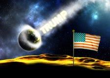Donald Trump Hits Earth Royaltyfri Bild