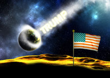 Donald Trump Hitting The Earth Royalty Free Stock Image