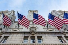 Donald Trump Hotel Washington DC Facade Exterior Entrance Looking Up November 2016 stock photos