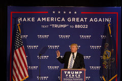 Donald Trump i Gettysburg Arkivfoto