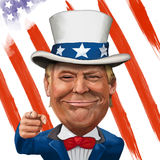 Donald Trump Illustration Royalty Free Stock Photography
