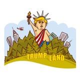 Donald Trump Image Statue di libertà illustrazione di stock