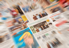 Donald Trump inauguration by major international newspaper journ Royalty Free Stock Photo