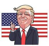 Donald Trump karikatyrvektor arkivbilder