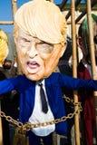 Donald Trump maskering på karnevalet av viareggioen arkivbild