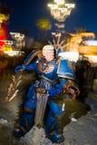 Donald Trump maskering på karnevalet av viareggioen royaltyfri fotografi