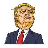 Donald Trump o presidente do Estados Unidos da América cartoon Washington, o 19 de maio de 2018 ilustração stock