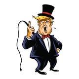 Donald Trump o vetor dos desenhos animados do diretor do circo Fotos de Stock Royalty Free