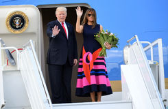 Donald Trump och Melania trumf Royaltyfri Fotografi
