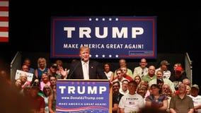Donald Trump. Oskaloosa, Iowa - July 25, 2015: Donald Trump make America great again rally