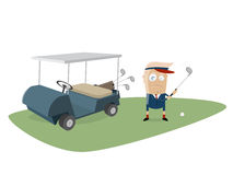 Donald trump is playing golf. Clipart of donald trump is playing golf royalty free illustration