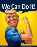 ¡Donald Trump - podemos hacerlo! retrato temático de la historieta ilustración del vector