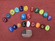 Donald Trump president 45 av USA Arkivfoton
